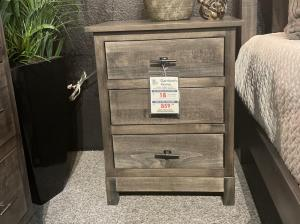 Platte River 3 Drawer Nightstand