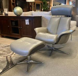 Space Leather Chair & Ottoman