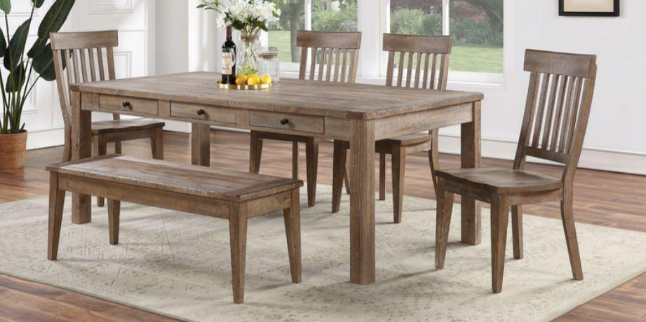 Austin Dining Set with Storage Bench